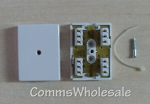 New BT 77A 3 pair IDC Junction Connection box (Joint Box) with cable tie