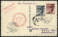 Zeppelin Österreich 1930 Südamerikafahrt Pernambuco Zuleitungspost Si 57/473