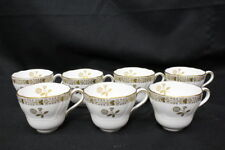 Set of 7 Vintage Copeland Spode BEAUMONT #Y6558 Gold Floral Footed Cups, England