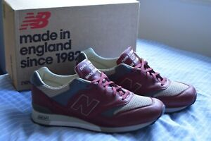 NEW BALANCE 577 red grey M577LBT 12.5 UK 13 US 47.5 EUR trainers MADE IN ENGLAND