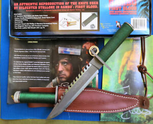 RAMBO FIRST BLOOD SIGN LICENSED MULTI-FONCTION TOP RESCUE SURVIVAL HUNTING KNIFE