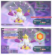 Pokemon Let's Go Pikachu Eevee ✨ SHINY ✨6 IV 1 LEVEL MEGA  Alakazam FAST TRADE