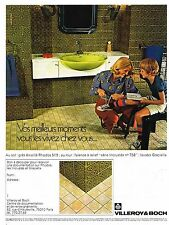 Publicité Advertising 1974 Carrelage et faience Villeroy & Boch