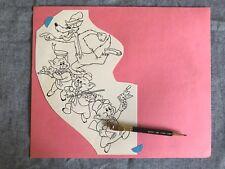 Disneyland Three Little Pigs Big Bad Wolf Original Art Gene Calmelat Illustrator