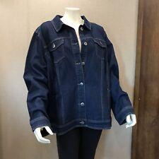Avenue Denim Trucker Jean Jacket Women's Plus sz 26/28 Sold Button NEW