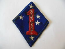 US ARMY  1ST MARINE DIVISION GUADALCANAL PATCH :  INSIGNE 39-45  WW2 ? PACIFIC