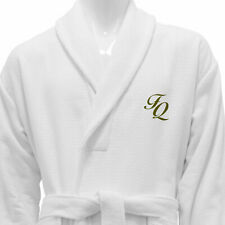 UNISEX BATHROBE WHITE 100% COTTON PERSONALIZED - STITCH