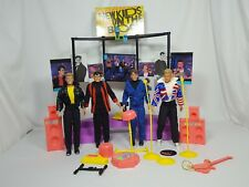 Vintage New Kids on the Block Figures Dolls Lot w/ Stage