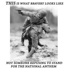 Conservative WHAT BRAVERY LOOKS LIKE NOT KNEELING Political Shirt