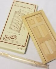 NOS Houseworks #6007 Wood 6-Panel Interior Doors Dollhouse Scale 1:12