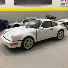 Porsche 964 Turbo White  1:24 Scale Die-Cast Model Car