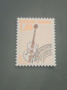 PREOBLITERE DE 1992  NYv 213 1,60F GUITARE  DENTELE 13  COTE 60€  LUXE **