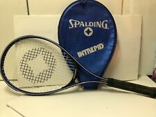 """Spalding Intrepid Tennis Racket With Cover, L4 3/8 Grip, 25 1/2"""" Long"""