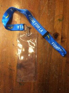NFL Los Angeles Chargers Lanyard - Fight For LA! New Season Ticket Holder Gift