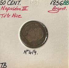 50 CENTIMES NAPOLEON III - 1856BB - Pièce de monnaie en Argent // TB