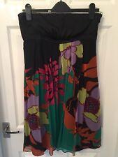 Black / Multi Coloured Knee Length Dress
