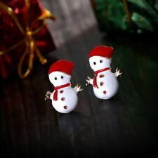 NEW Fashion Christmas Xmas Snowman Stud Earrings Ear Jewelry Family Party Gifts