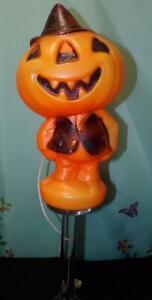 """VTG Pumpkin GREGG PRODUCTS I  HALLOWEEN BLOW MOLD  JACK O BLACK JACKET 15"""""""