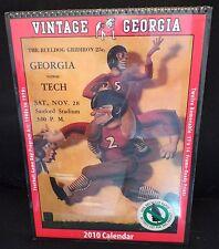 Sealed Georgia Bulldogs 2010 Vintage Football Calendar_Football Game Program Art