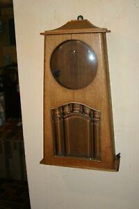 Art Deco Wanduhrgehäuse - Holz Eiche massiv. SELTEN