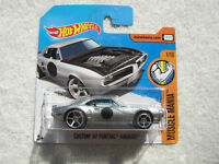 Hot Wheels /'67 1967 Custom Pontiac Firebird Muscle Mania 1//10 Silver r3toystore