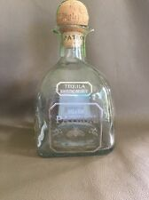 Patron Silver Tequila 100% De Agave 750ml empty bottle with cork FREE SHIPPING!