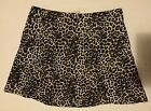 Ladies Black and Brown Leopard Print Skirt