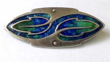 Rare Antique Authentic Liberty & Co Cymric Brooch Pin - 925 Silver and Enamel
