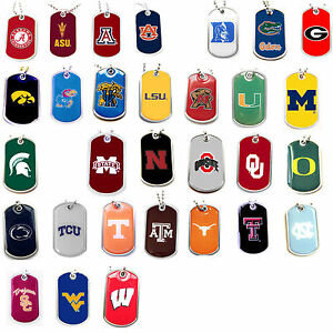 dog tag necklace NCAA PICK YOUR TEAM not a cheap gumball machine tag
