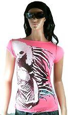 WoW AMPLIFIED BLONDIE Strass 70 80'er Rock Star ViP Clubwear Pink T-Shirt g.S 38