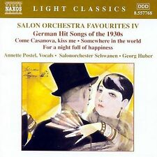 Salon Orchestra Favourites IV: German Hit Songs of the 1930s, New Music