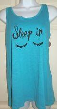 New Womens XL 16-18 Sleep In Tank Top pajama Secret Treasures Eyelashes