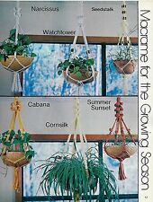 Short Quick Easy Plant Hanger Patterns in Macrame for All Seasons II Book 7240