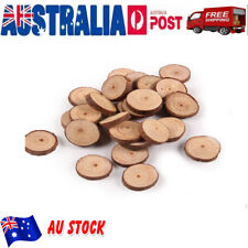 100pcs Natural Wood Slices Round Disc Tree Bark Log Wooden Circles for DIY Craft