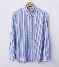 HARMONT BLAINE Camicia Uomo L Manica Lunga a Righe Button Down Cotone Bianco