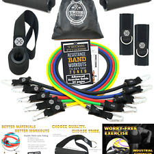New listing TRIBE Resistance Bands Set and Weights for Exercises I Exercise Bands for Men...