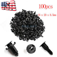100 x Plastic Rivets Retainer Clip 18 x 20 x 8.5mm for Car Bumper Fender Nissan
