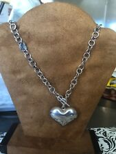 Heart 19 inches long Taxco Mexico Sterling Silver Large