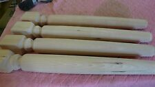 "4--SOLID HEMLOCK  29""  TABLE FURNITURE LEGS WOOD WOODEN TURNED"
