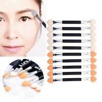 10Pcs Makeup Double-end Eye Shadow Eyeliner Brush Sponge Tool Applicator I2E6
