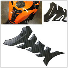 3D Carbon Fiber Motorcycle Gel Oil Gas Fuel Tank Pad Protector Sticker Decal US