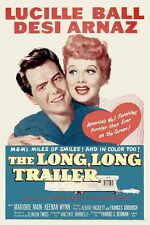 THE LONG LONG TRAILER Movie POSTER 11x17 B Desi Arnaz Sr. Lucille Ball Marjorie