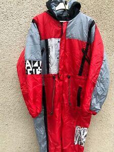 Vintage 90's Finale Ski Suit One Piece Unisex Mens Womens S Red