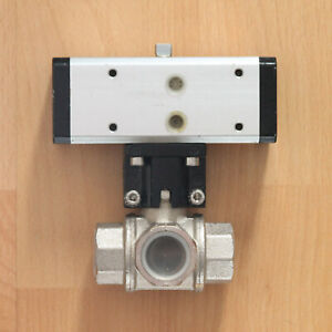 OMAL pneumatischer Stell-Antrieb DA15 + Kugelhahn-Ventil DN20 3/4 Zoll Unbenutzt