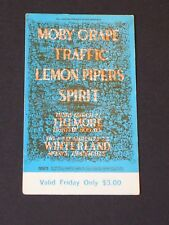 BG112 TRAFFIC & MOBY GRAPE Psychedelic FILLMORE TICKET by LEE CONKLIN