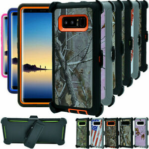 For Samsung Galaxy Note 8 Shockproof Camo Case Cover with Belt Holster Clip