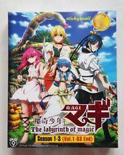 Anime DVD Magi: The Labyrinth of Magic COMPLETE Season 1-3 ENG SUB All Region