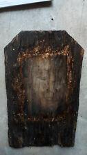 Dachpfanne 28 cm Holz Buddha bild Mönch Dachschindel Buddhismus Feng Shui