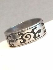 Vintage Sterling Silver Turtle Lizard Band Ring Size 9.5 6.9g As Is
