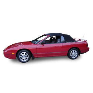 Fits: Nissan 240SX Convertible Soft Top & Plastic Window 1991-1995 Black Vinyl